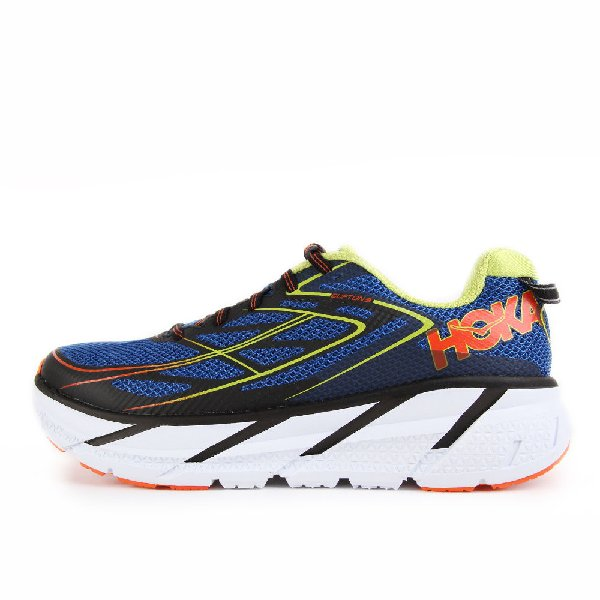 Hoka Clifton 3 Blu/Red Orange